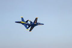 Blue Angels formation demonstrates flying skills Royalty Free Stock Photography