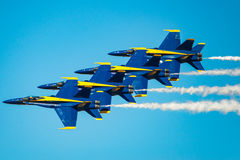 Blue Angels in Formation Stock Photography