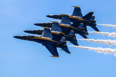Blue Angels Formation Royalty Free Stock Photo
