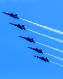 Blue Angels in formation. Royalty Free Stock Photos