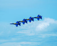 Blue Angels in formation. Stock Images
