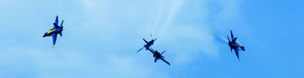 Blue Angels in formation. Royalty Free Stock Images