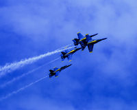 Blue Angels in formation. Royalty Free Stock Image