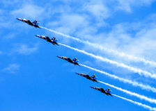 Blue Angels in formation. Royalty Free Stock Photography