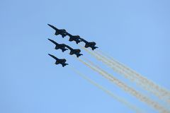 Blue Angels at Great New England Air Show stock image