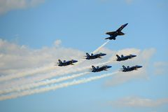Blue Angels at Great New England Air Show Stock Images