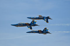 Blue Angels inverted. Blue Angels air show Pensacola, Fl NAS Stock Photography