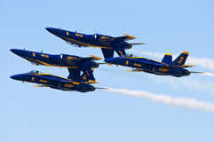 Blue Angels Inverted Formation Stock Image