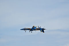 Blue Angels inverted pass. Blue Angels air show Pensacola, Fl NAS Stock Image