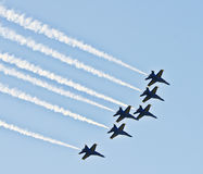 Blue Angels Over San Diego royalty free stock image