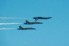 Blue Angels with Passenger Jet at Seafair Royalty Free Stock Photos