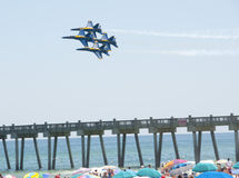 Blue Angels Pensacola Beach Airshow Stock Photo