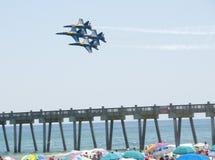 Blue Angels Pensacola Beach Airshow Stock Photo