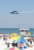 Blue Angels Pensacola Beach Airshow Stock Photography