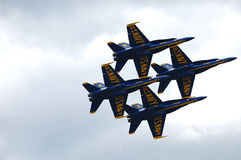 The Blue Angels Performing Over Lake Washington royalty free stock image