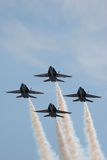 Blue angels precision flight Royalty Free Stock Images