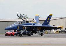Blue Angels prepare for flight royalty free stock images