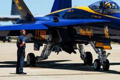 Blue Angels prepare for take-off. Stock Photography