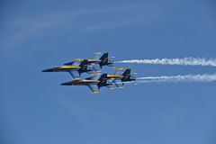 Blue Angels side by side. Blue Angels air show Pensacola, Fl NAS Stock Photography