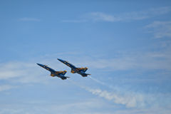 Blue Angels slow entrance. Blue Angels air show Pensacola, Fl NAS Stock Photo