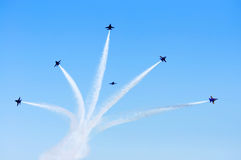 Blue Angels Smoke Formation Stock Photography