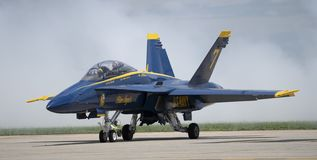 The Blue Angels Startup. The blue Angels starting up at the Joint Base Andrews airshow in Maryland royalty free stock images