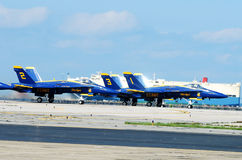 Blue Angels Take off. Royalty Free Stock Photography