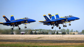 Blue Angels Taking Off. Four of the Blue Angels taking off Royalty Free Stock Images