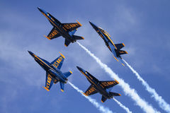 Blue Angels. United States Navy Blue Angels over Lancaster, California Stock Image