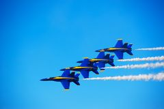 Blue Angles Formation Royalty Free Stock Photo