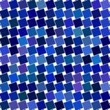 Blue angular square pattern design background Stock Photography