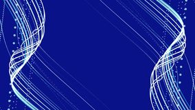 Blue animated composition stock footage