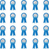 Blue Anniversary Ribbon Stock Images