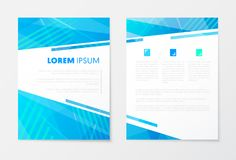 Blue Annual Report Business Brochure, Booklet, Leaflet Cover Flyer Template.  Royalty Free Stock Photography