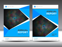Blue annual report Leaflet Brochure Flyer template A4 size design. Book cover layout design, Abstract presentation templates,poster,leaflet,newsletter,poster Stock Images