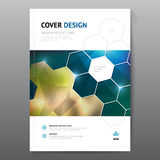 Blue annual report Leaflet Brochure Flyer template A4 size design, book cover layout design, Abstract blue presentation Stock Images