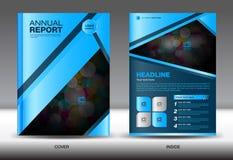Blue Annual report template, blue cover design,brochure fl yer,i Stock Image