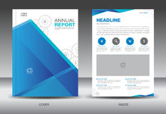 Blue Annual report template,cover template,brochure fl yer,info Stock Images