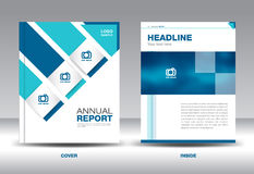 Blue Annual report template vector illustration Stock Photography