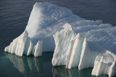 Blue Antarctic Iceberg Stock Image