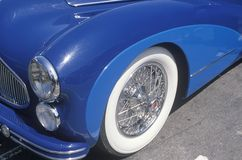 A blue antique car at the Beverly Hills Car Show in Beverly Hills, California Stock Image