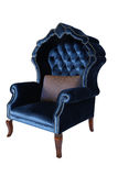 Blue antique chair retro style louis Stock Photos