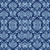 Blue antique wallpaper Stock Photos