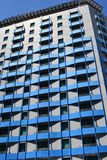 Blue Apartment Building. The Blue Modern Apartment Building Stock Images