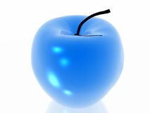 Blue apple Royalty Free Stock Photography