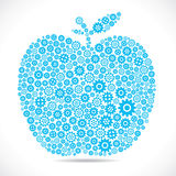 Blue apple with gear Stock Image