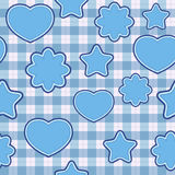Blue application - seamless pattern Stock Images