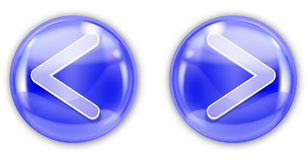 Blue aqua button Stock Photography
