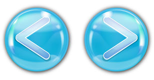 Blue aqua button Stock Image