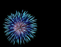Blue and Aqua Fireworks Stock Images